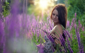 Картинка цветы, качели, настроение