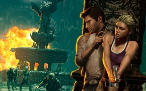 Картинка Game, Naughty Dog, Натан Дрейк, Uncharted: Drake's Fortune, Елена Фишер