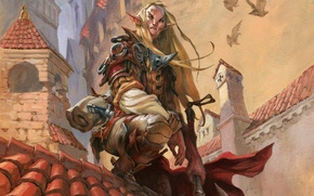 Картинка эльф, Magic: The Gathering, Jesper Ejsing, Selvala's Enforcer