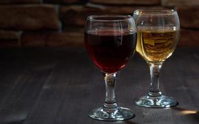 Картинка вино, красное, белое, бокалы, напитки