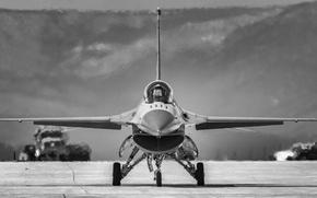 Картинка «Файтинг Фалкон», F-16, многоцелевой, Fighting Falcon, истребитель, аэродром