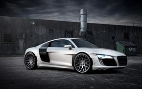 Картинка машина, Audi, белая, суперкар