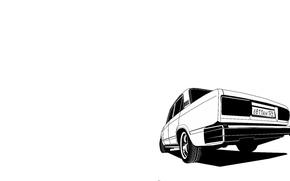 Картинка машина, авто, графика, арт, ВАЗ