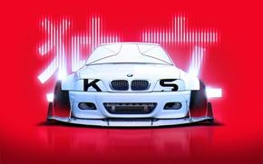 Картинка BMW, Japan, Style, White, E46, by Khyzyl Saleem, Cosworth, M3