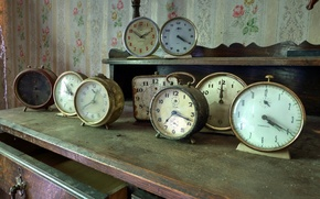 Картинка время, стол, часы