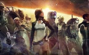 Картинка Miranda Lawson, Mass Effect, Legion, Garrus Vakarian, Thane Krios, Jack, Tali, Samara, Mordin Solus, Jacob …