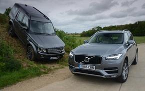 Картинка Volvo, Land Rover, Discovery, XC90, вольво, дискавери, ленд ровер, 2015