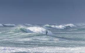 Картинка море, спорт, человек
