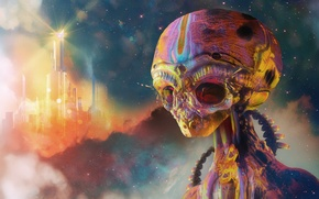 Картинка фон, инопланетянин, пришелец, alien