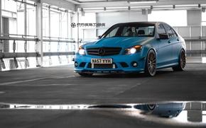 Картинка машина, авто, wheels, диски, Mercedes Benz, auto, C Class, Vossen Wheels