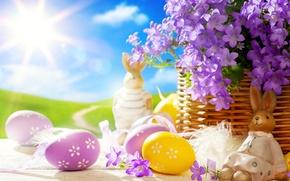Картинка свет, заяц, яйца, весна, пасха