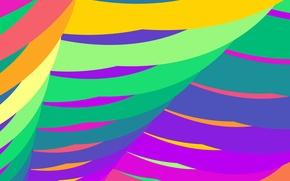 Обои цвет, дуга, линии, парус