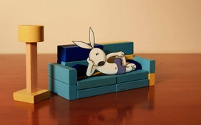 Картинка rabbit, dog, Cartoon, Kungfu Bunny