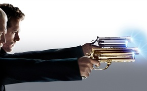 Картинка car, wallpaper, fire, gun, Ryan Reynolds, sky, Shooting, Lightning, smoke, police, eyes, cloud, wallpapers, Yellow, …