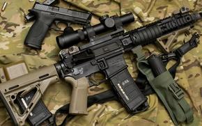 Картинка gun, military, ar15, scope, assault rifle, handgun