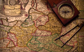 Картинка vintage, romance, compass, adventure, treasure hunt, old maps