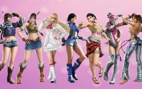 Картинка girl, pink, Asuka, tekken, Christina, Lili, Julie, Jaycee, Zafina