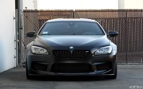 Картинка BMW, Frozen, Black, Gran Coupe, Матовый
