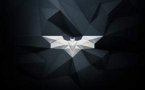 Картинка batman, white, emblem, black, bat, paper, gray