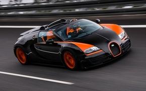 Обои bugatti, 16.4, veyron, grand sport, vitesse, world record car edition