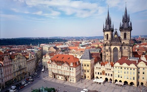 Обои Площадь, Прага, Чехия