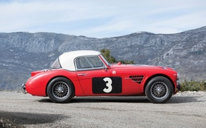 Картинка Красный, Ретро, Автомобили, Сбоку, Austin Healey, 3000, 1961, Rally Car, (MkI)