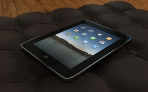 Обои планшет, айпэд, диван, ipad, apple