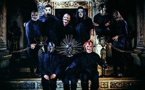 Картинка Metal, Slipknot, Nu-Metal, Ню-метал, Слипнот, Corey Taylor, Jim Root, Sid Wilson, Mick Thomson, Chris Fehn, …