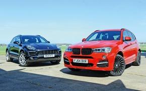 Обои 2014, F25, бмв, макан, порше, альпина, Porsche, BMW, Macan, Alpina