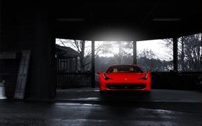 Картинка Ferrari, red, front, 458 italia