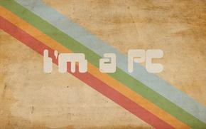 Картинка стиль, надпись, краски, минимализм, colors, линий, minimalism, style, 1920x1200, lines, i'm a pc, lettering