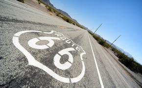 Картинка знак, дороги, шоссе, Чикаго, road, сша, Лос-Анджелес, sign, usa, chicago, los angeles, route 66, highway, ...