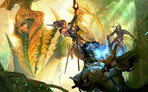 Картинка оружие, магия, битва, Золото Богов