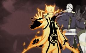 Картинка Naruto, Тоби, Мадара, Обито, чакра девятихвостого