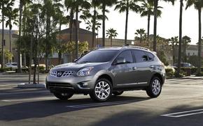 Обои пальмы, Nissan-Rogue-2011, экзотика