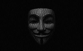 Обои маска, буквы, гай фокс, в значит вендетта, v for vendetta
