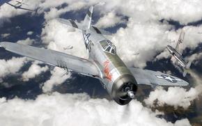 Картинка арт, Thunderbolt, ВВС США, истребитель-бомбардировщик, P-47, Republic, roen911, tables turned