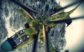 Картинка Chopper, Russia, Kamov, Pilots, KA-52, Russian Chopper, Kamov KA-52