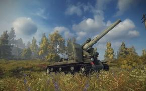 Картинка World of tanks, Малиновка, С-51, Арта