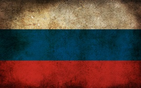 Обои флаг, Россия, грязь
