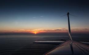 Картинка Cessna, самолёт, закат