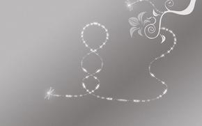 Обои серый, узор, минимализм, Светлячок