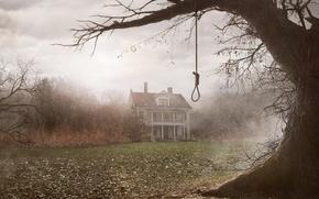 Картинка туман, дом, дерево, сумрак, The Conjuring, Заклятие