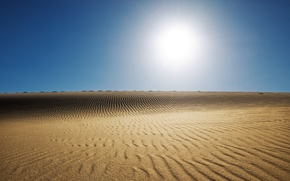 Обои солнце, пекло, жара, пустыня