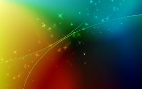Картинка звезды, свет, абстракция, узоры, краски, colors, линий, light, patterns, 1920x1200, lines, stars, abstraction