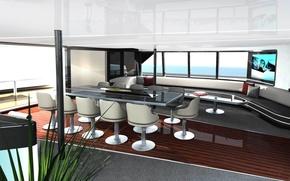 Картинка дизайн, стиль, интерьер, яхта, салон, Design, люкс, Yacht, Salon, 40m Porsche, Catamaran, Main