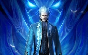 Картинка демон, DMC, блондин, game wallpapers, Вергилий, Devil may cry 3, special edition, Vergil, devil trigger