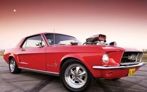 Картинка двигатель, Ford Mustang, власть