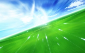 Обои поле, небо, Полет