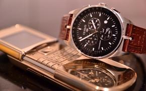Картинка Часы, Телефон, Nokia, Watch, Gold, Phone, Нокия, Sirocco, 8800